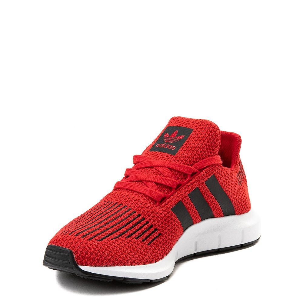 adidas black and red running shoes off