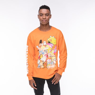 Main view of Mens Nickelodeon Peeps Long Sleeve Crew Tee