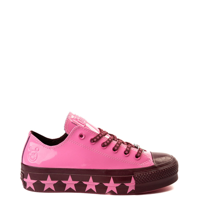 Main view of Womens Converse x Miley Cyrus Chuck Taylor All Star Lo Patent Platform Sneaker