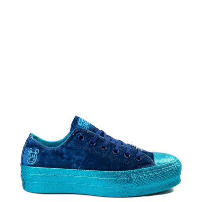 Main view of Womens Converse x Miley Cyrus Chuck Taylor All Star Lo Velvet Platform Sneaker