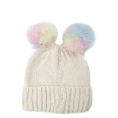 Main view of Girls Youth Double Pom Beanie