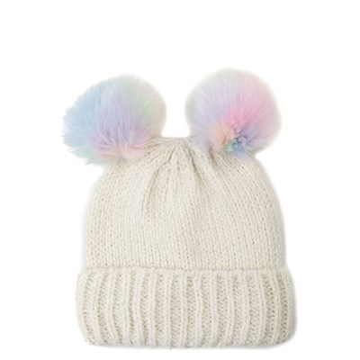 Alternate view of Girls Youth Double Pom Beanie