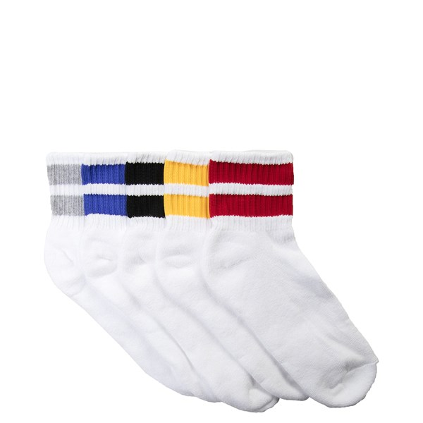Striped Quarter Socks 5 Pack - Big Kid