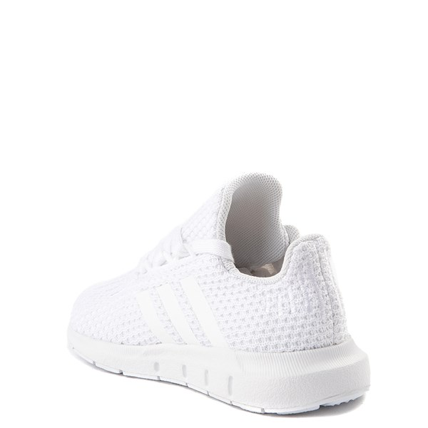 alternate view adidas Swift Run Athletic Shoe - Baby / Toddler - White MonochromeALT2