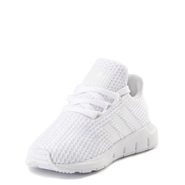 alternate view adidas Swift Run Athletic Shoe - Baby / Toddler - White MonochromeALT3