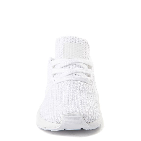 alternate view adidas Swift Run Athletic Shoe - Baby / Toddler - White MonochromeALT4