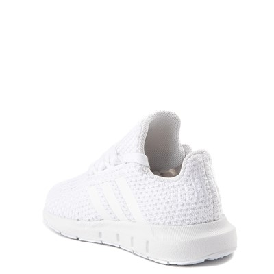 Alternate view of adidas Swift Run Athletic Shoe - Baby / Toddler - White Monochrome