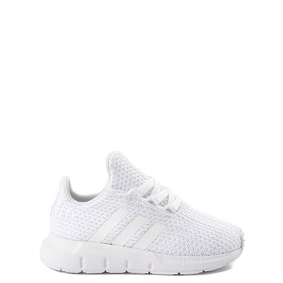 Main view of adidas Swift Run Athletic Shoe - Baby / Toddler - White Monochrome
