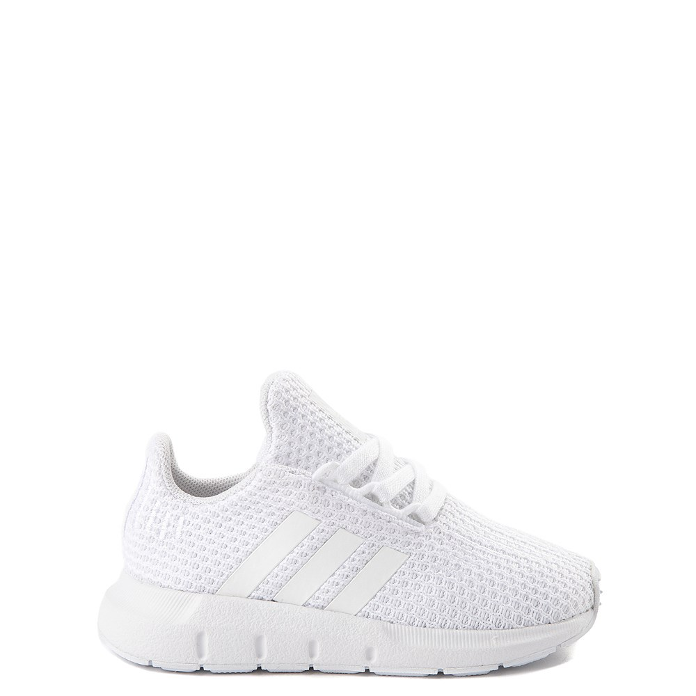 adidas Swift Run Athletic Shoe - Baby / Toddler - White Monochrome