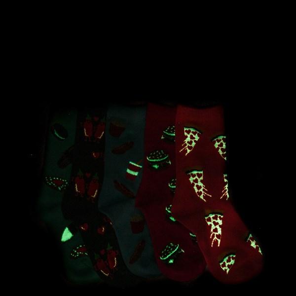 Alternate view of Junk Food 5 Pack Glow Socks - Girls Toddler