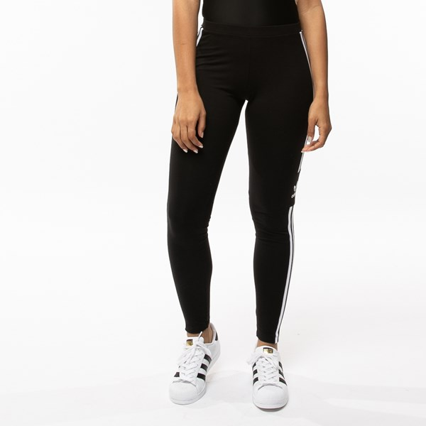 alternate view Womens adidas 3-Stripes LeggingsALT1