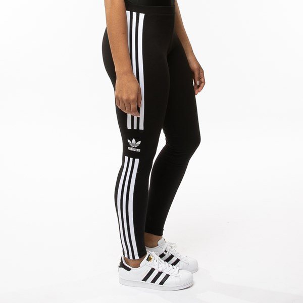 alternate view Womens adidas 3-Stripes LeggingsALT3
