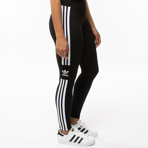 alternate view Womens adidas 3-Stripes LeggingsALT3