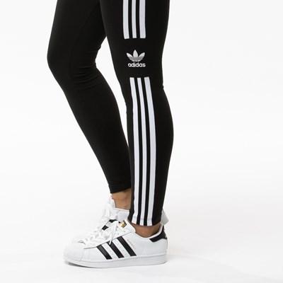 Main view of Womens adidas 3-Stripes Leggings - Black