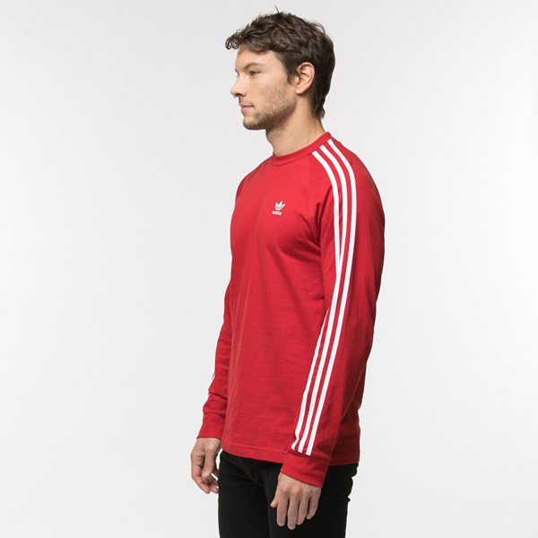 alternate view Mens adidas 3-Stripes Long Sleeve TeeALT2