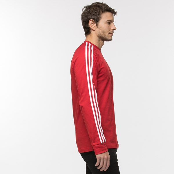 alternate view Mens adidas 3-Stripes Long Sleeve TeeALT3