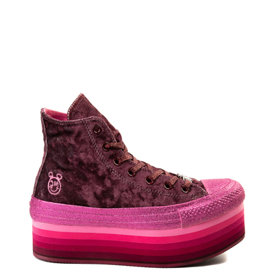 Main view of Womens Converse x Miley Cyrus Chuck Taylor All Star Hi Velvet Platform Sneaker