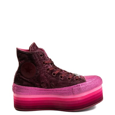 Alternate view of Womens Converse x Miley Cyrus Chuck Taylor All Star Hi Velvet Platform Sneaker