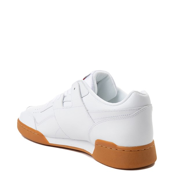 alternate view Mens Reebok Workout Plus Athletic Shoe - WhiteALT2