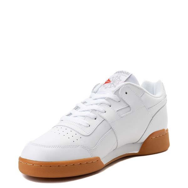 alternate view Mens Reebok Workout Plus Athletic Shoe - WhiteALT3