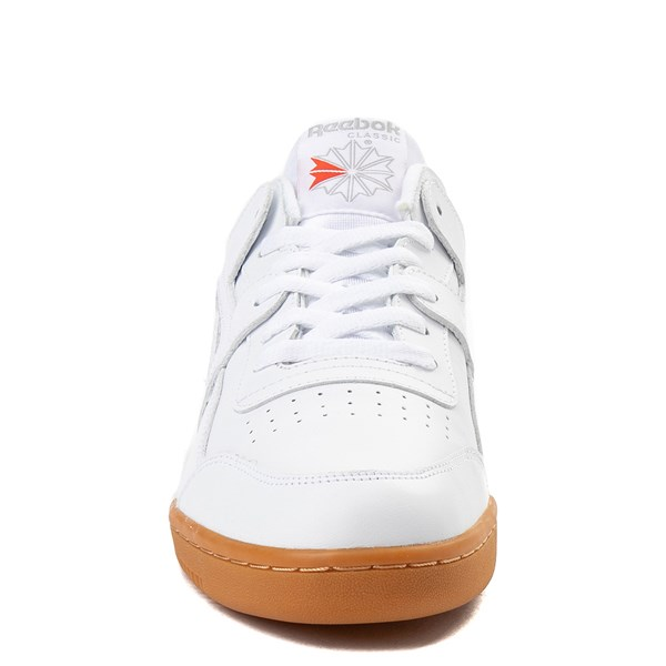 alternate view Mens Reebok Workout Plus Athletic Shoe - WhiteALT4