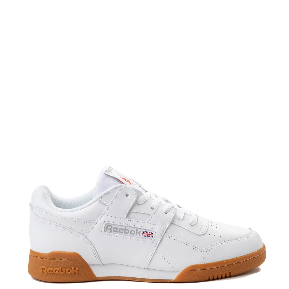 Mens Reebok Workout Plus Athletic Shoe - White