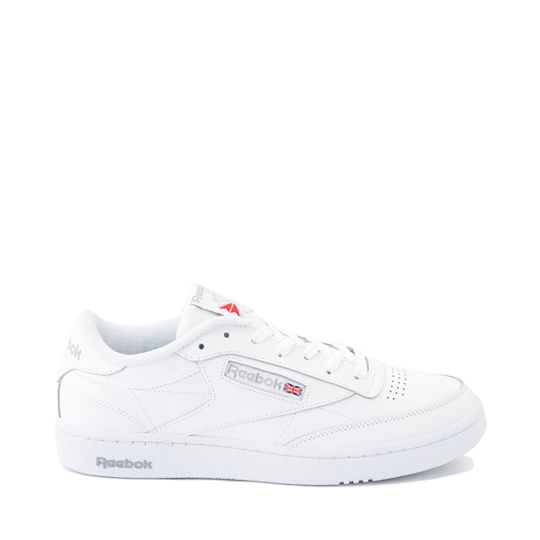 Main view of Mens Reebok Club C 85 Athletic Shoe - White / Light Gray