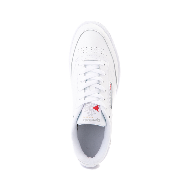 alternate view Mens Reebok Club C 85 Athletic Shoe - White / Light GrayALT2
