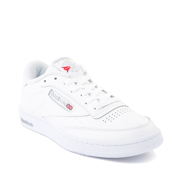 alternate view Mens Reebok Club C 85 Athletic Shoe - White / Light GrayALT5