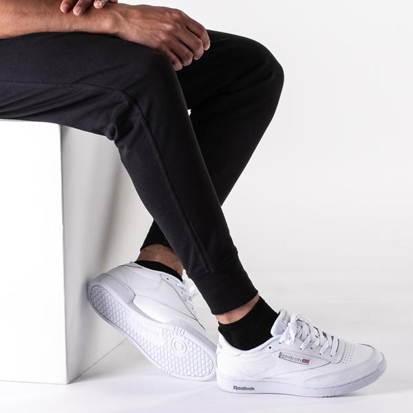 alternate view Mens Reebok Club C 85 Athletic Shoe - White / Light GrayB-LIFESTYLE1