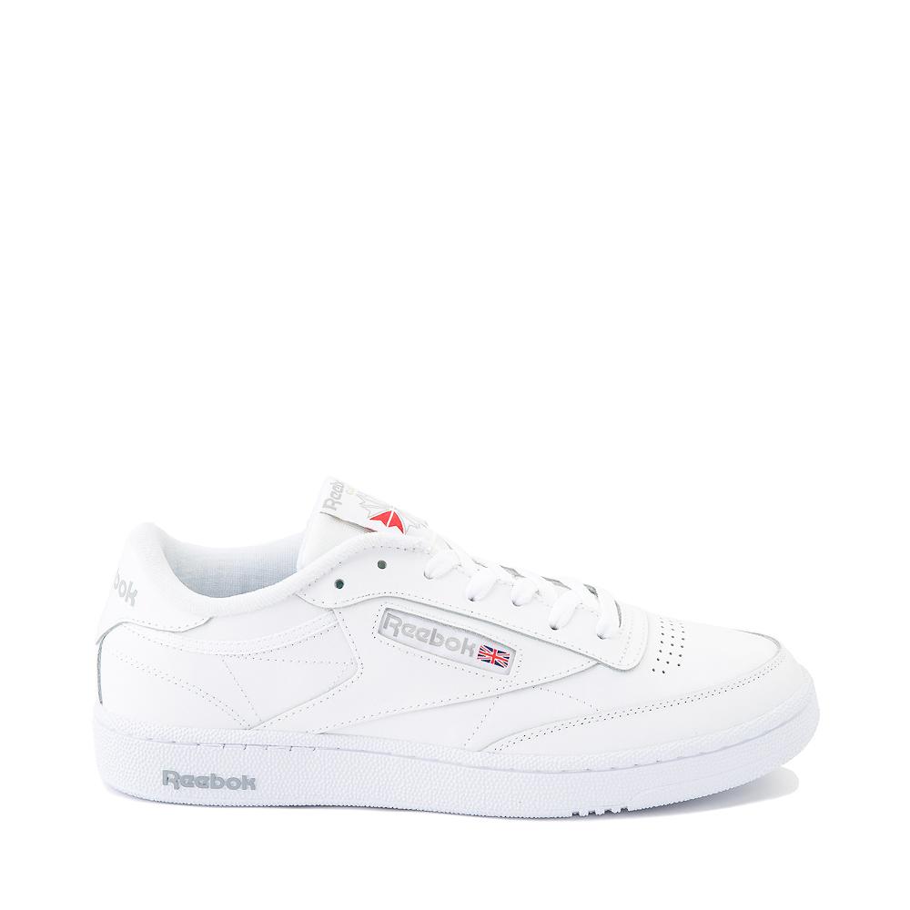 Mens Reebok Club C 85 Athletic Shoe - White / Light Gray