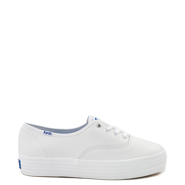 Womens Keds Triple Decker Casual Platform Shoe - White