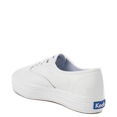 Alternate view of Womens Keds Triple Decker Casual Platform Shoe - White Monochrome