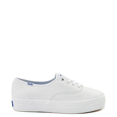 Main view of Womens Keds Triple Decker Casual Platform Shoe - White