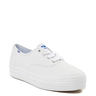 Alternate view of Womens Keds Triple Decker Casual Platform Shoe - White