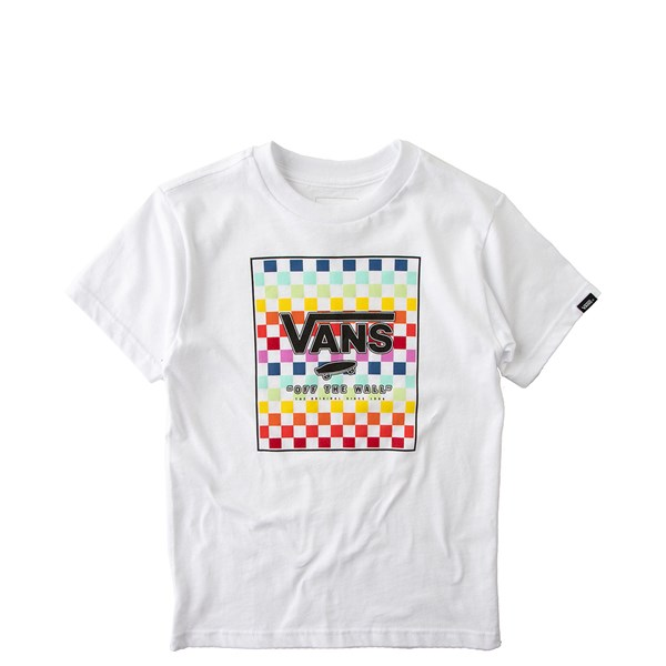 Default view of Vans Rainbow Checkerboard Tee - Toddler - White / Multi