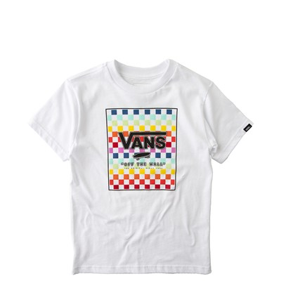 Main view of Vans Rainbow Checkerboard Tee - Toddler - White / Multi