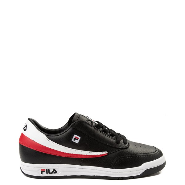 Mens Fila Original Tennis Athletic Shoe - Black / White / Red