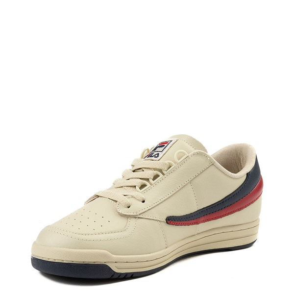 alternate view Mens Fila Original Tennis Athletic Shoe - CreamALT3
