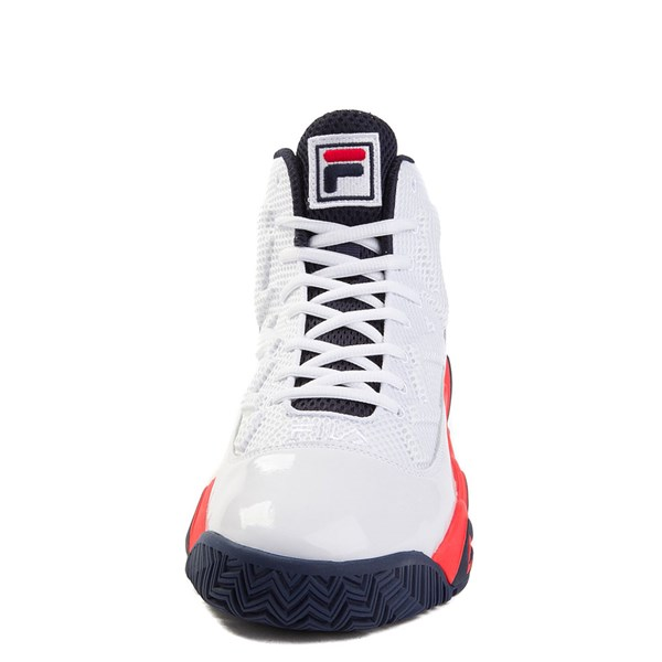 alternate view Mens Fila MB Athletic Shoe - White / Navy / OrangeALT4