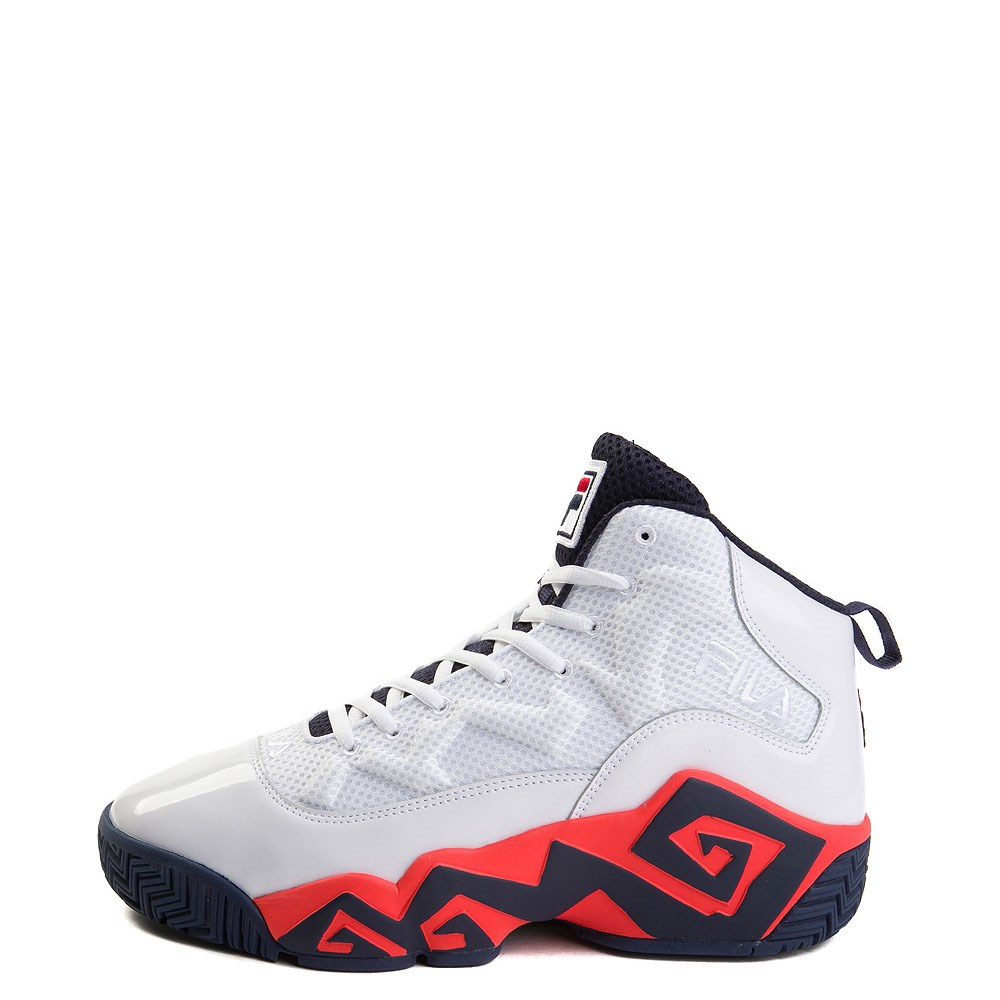 Mens Fila MB Athletic Shoe - White / Navy / Orange