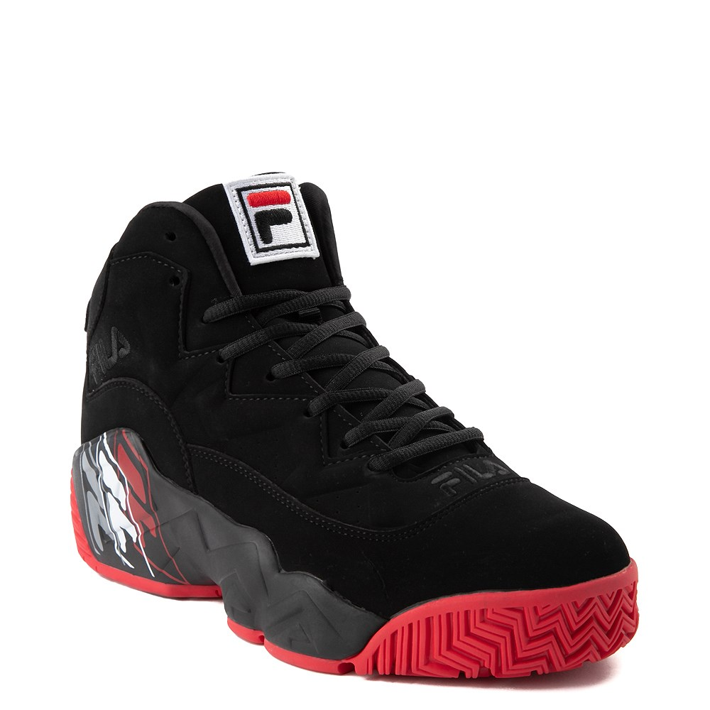 Mens Fila MB F Box Athletic Shoe Black Red
