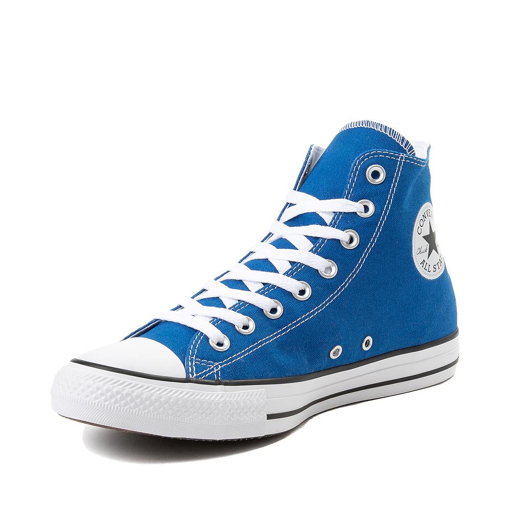 converse hi canvas blu