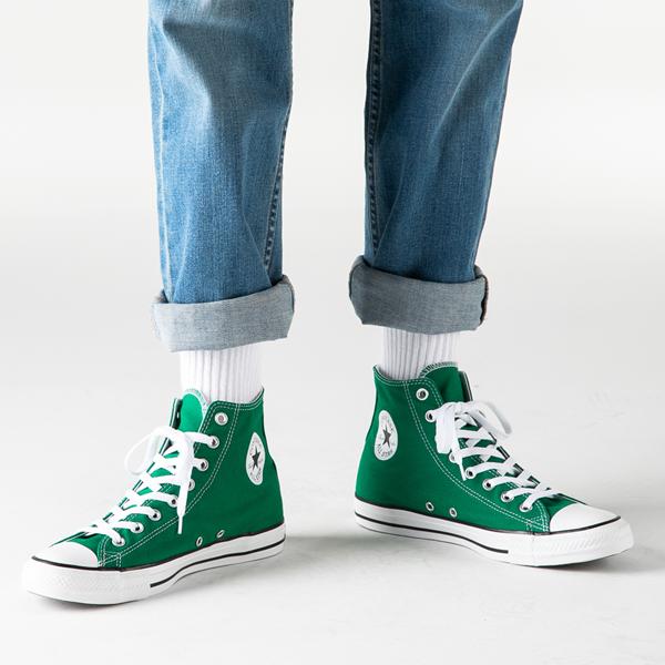 alternate view Converse Chuck Taylor All Star Hi Sneaker - Amazon GreenB-LIFESTYLE1