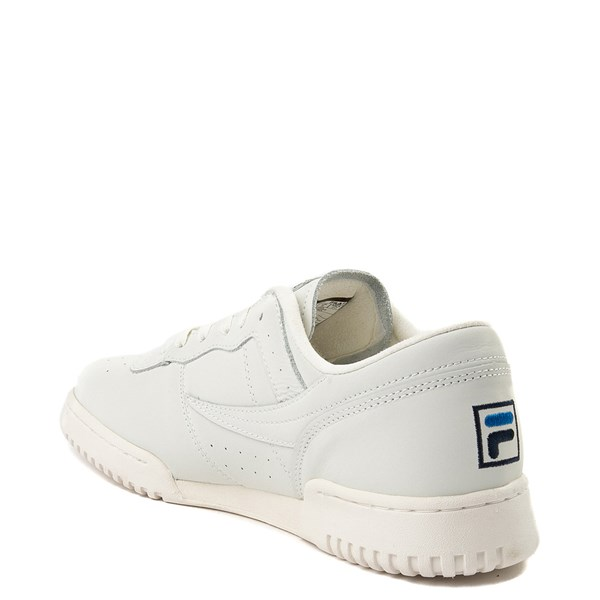 alternate view Mens Fila Original Fitness Premium Athletic Shoe - Ivory / NavyALT2