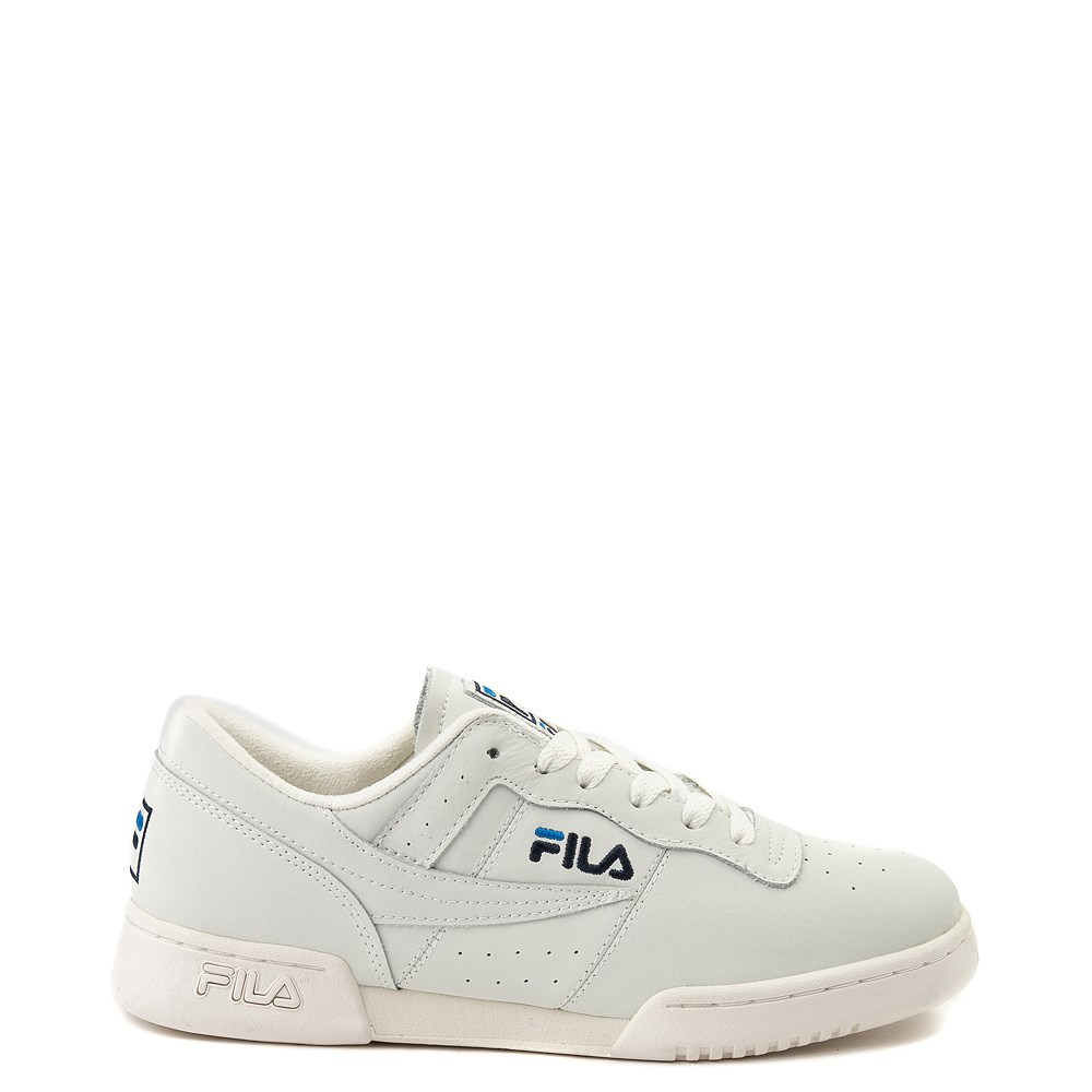 Mens Fila Original Fitness Premium Athletic Shoe - Ivory / Navy