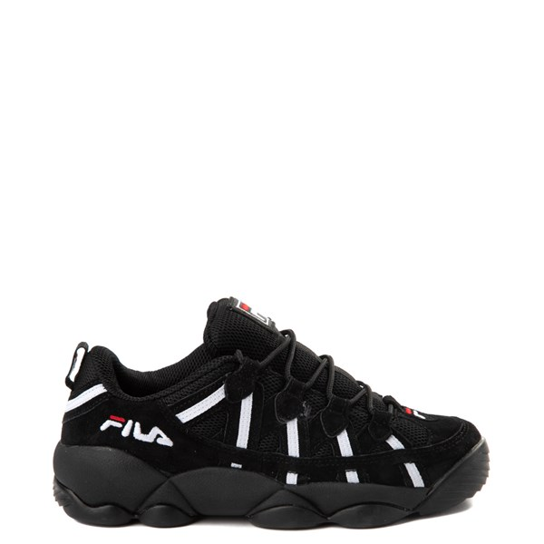 Womens Fila Spaghetti Low Athletic Shoe - Black / White / Red