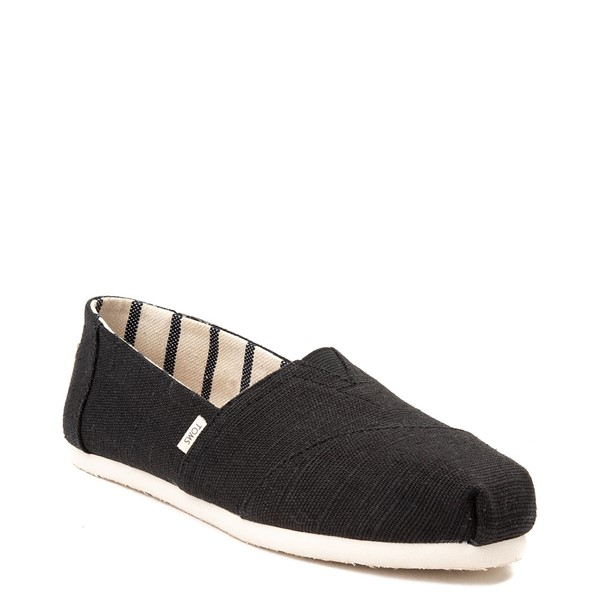 alternate view Womens TOMS Classic Slip On Casual Shoe - BlackALT5