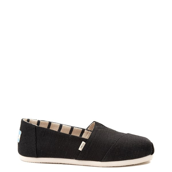 Main view of Womens TOMS Classic Slip On Casual Shoe - Black