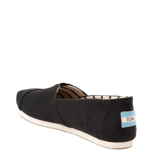 alternate view Womens TOMS Classic Slip On Casual Shoe - BlackALT2